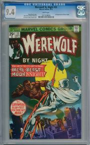 Werewolf By Night #33 1975 CGC 9.4 WP 2nd Appearance Moon Knight Cents Marvel comic book
